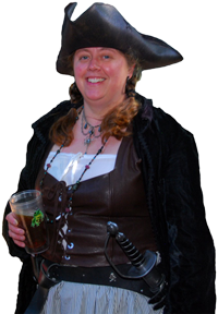 A recent picture of Amelia dressed as a pirate